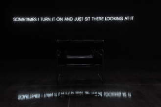 Sitting Piece, 2012 - Neon, chair, viewer - Edition of 3 - 10 x 400 cm (ACQUIRED BY NATIONAL GALLERY OF VICTORIA)