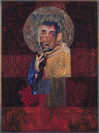 "Rodríguez Calero, Saint Anthony, 1999, 24"" x 18"""