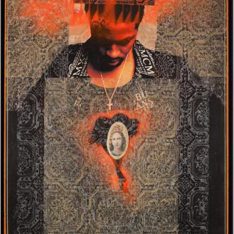 """Rodríguez Calero, The Apparition, 1999, 36""""x 24"""""""