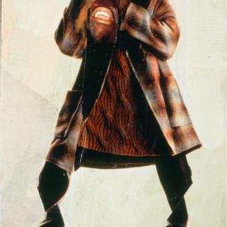 "Rodríguez Calero, The Black Scream, 1995, 12 3⁄4""x 8"""