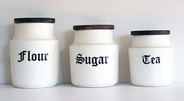 VINTAGE KITCHEN CANISTERS