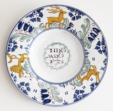 ANTIQUE DELFT PLATE (HOLLAND)