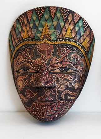 BALINESE HANDPAINTED WOODEN MASK