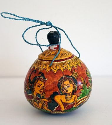 HANDPAINTED COCONUT VESSEL