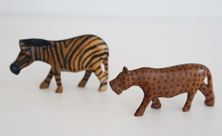 HAND CARVED WOODEN ANIMALS (AFRICA/PORTUGAL)