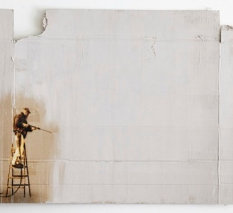 KIRPY, 'Cardboard Buffer' Mixed Media - Layered stencil on found cardboard 81 x 109cm Edition Length: 4