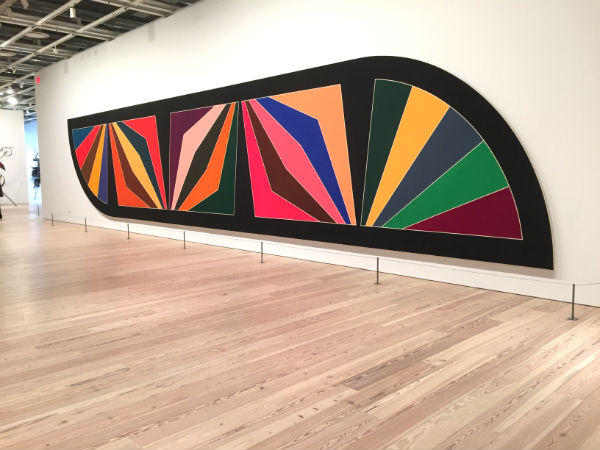 Installation view of Frank Stella, Damascus Gate (Stretch Variation III) (1970) at the Whitney Museum of American Art. Image: Ben Davis.